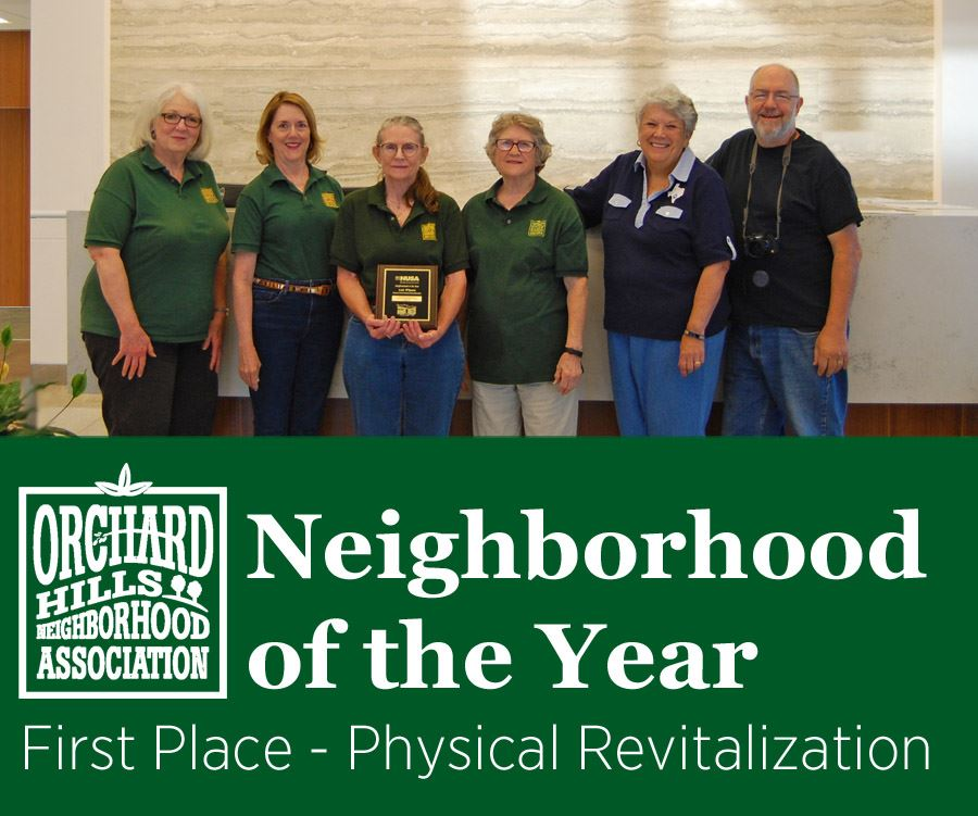 OHNA Neighborhood of the Year