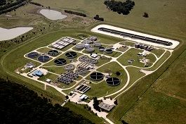 Aerial Photo of the Duck Creek Wastewater Treatment Plant